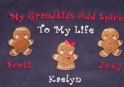My grandkids add spice to my life sweatshirt-ginger bread figures
