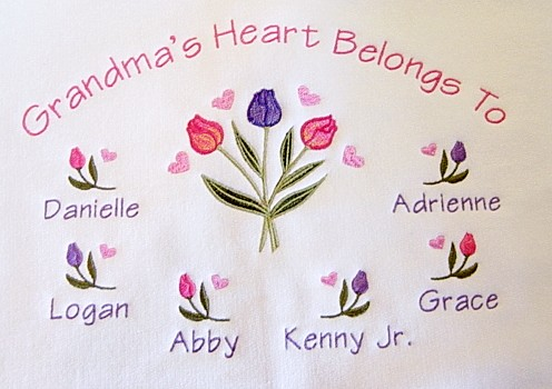 Beautiful Tulip Design-Grandma's Heart Belongs to Tee shirt