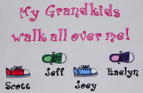 My grandkids walk all over me sweatshirt