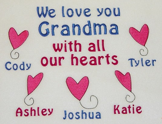 We Love You Grandma Tee shirt